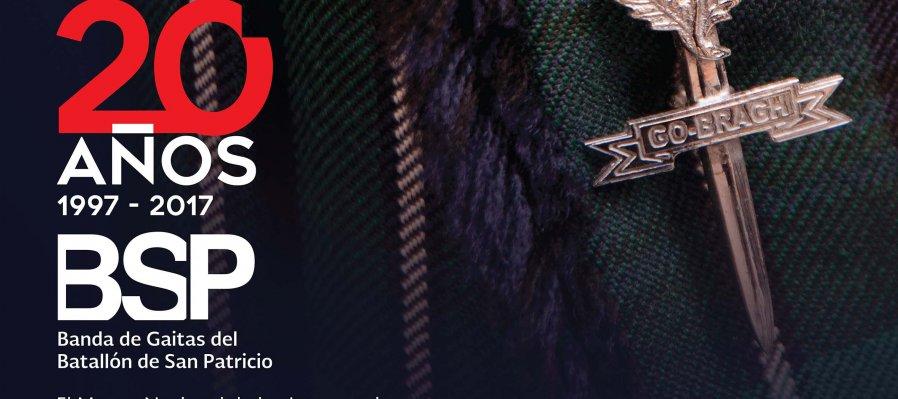 20 Años de la Banda de Gaitas del Batallón de San Patricio