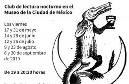 Club de lectura nocturno en el Museo de la Ciudad de Méx...