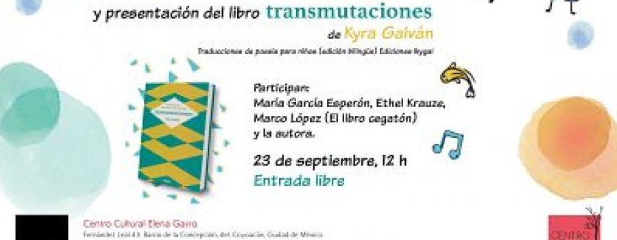 """Taller de poesía y presentación del libro """"Transmutaciones"""""""
