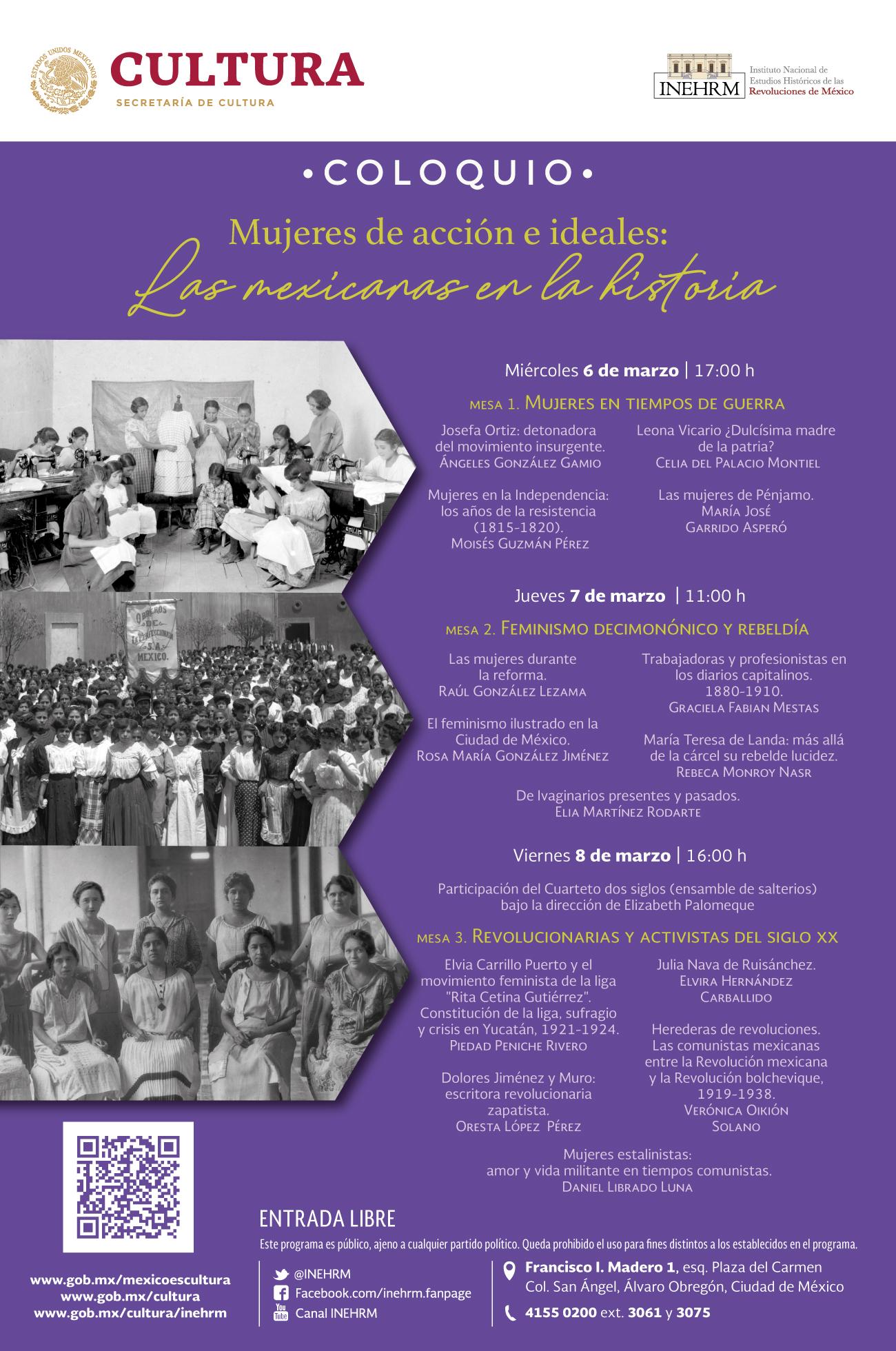ac857c839fe6 Mujeres de acción e ideales  Las mexicanas en la historia