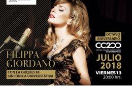 Filippa Giordano con la Orquesta Sinfónica Universitaria