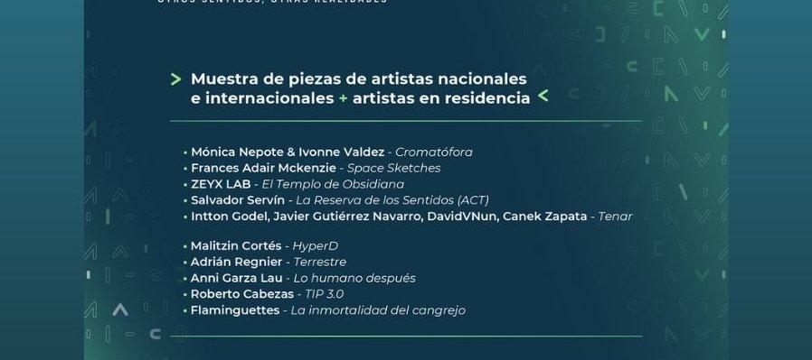 Muestra de piezas nacionales e internacionales + artistas en residencia