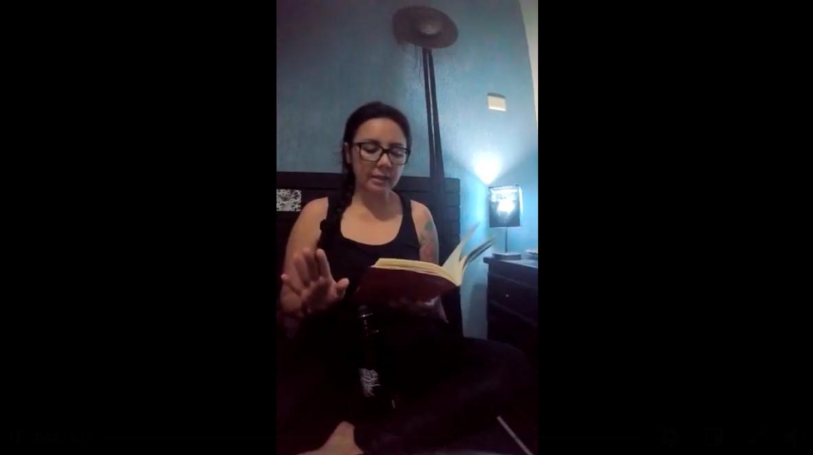 Letras y autores desde casa. Lectura de un cuento: Mariana García