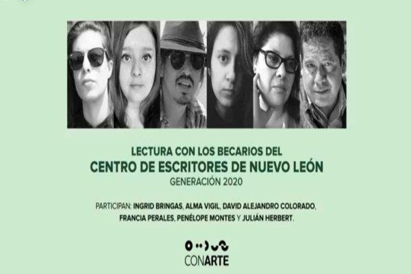 Lectura con los becarios del Centro de Escritores de Nuevo León