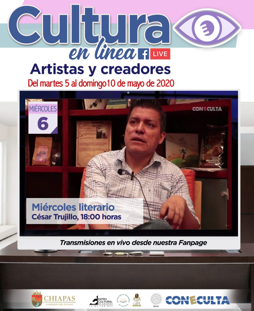 Miércoles literario con César Trujillo
