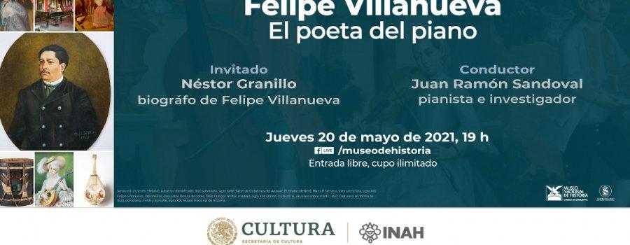 Charla virtual: Felipe Villanueva: un poeta del piano