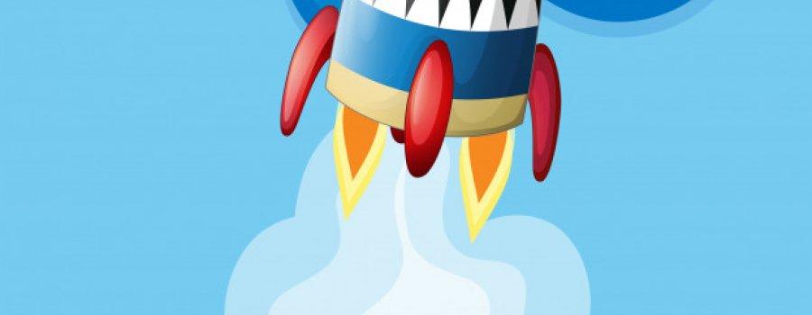 Cohete al cielo