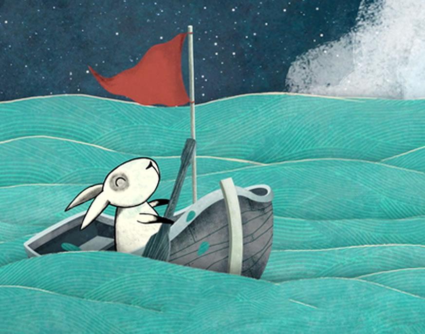 Cómo llegó el conejo a la luna