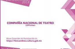 ¡Forma parte de la Compañía Nacional de Teatro!