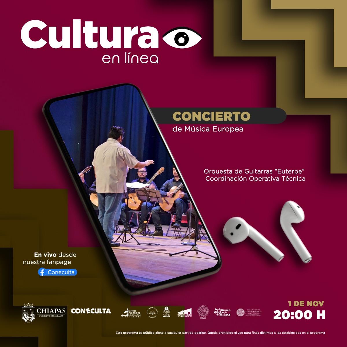 "Concierto de Música Europea / Orquesta de Guitarras ""Euterpe"""
