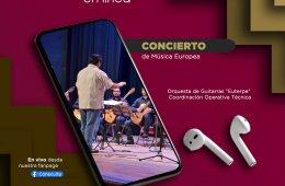 """Concierto de Música Europea / Orquesta de Guitarras """"E..."""