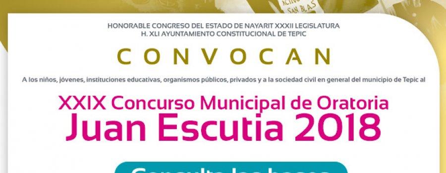 XXIX Concurso municipal de oratoria Juan Escutia 2018