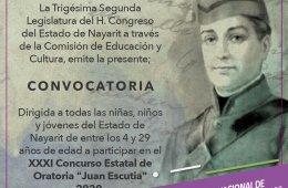 XXXI Concurso Estatal de Oratoria Juan Escutia 2020