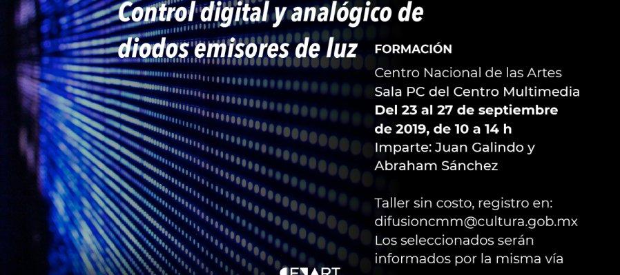 Control digital y analógico de diodos emisores de luz