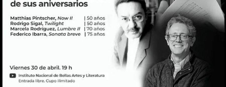 CEPROMUSIC | Trayectorias: celebración de aniversarios Pintscher | Sigal | Rodríguez | Ibarra