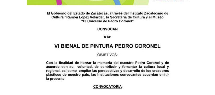 VI Bienal de pintura Pedro Coronel
