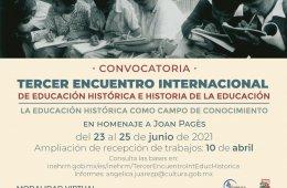 Tercer encuentro internacional de educación histórica e...