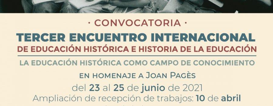 Tercer encuentro internacional de educación histórica e historia de la educación.