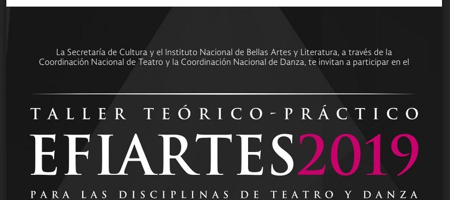 2019 Efiartes, for Theater and Dance Disciplines