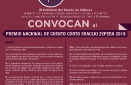 Premio Nacional de cuento corto Eraclio Zepeda 2019