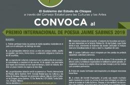 Premio Internacional de Poesía Jaime Sabines 2019