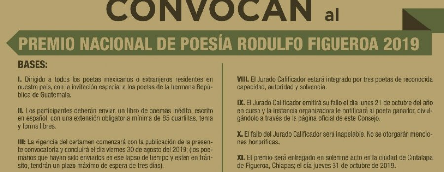 Premio Nacional de Poesía Rodulfo Figueroa