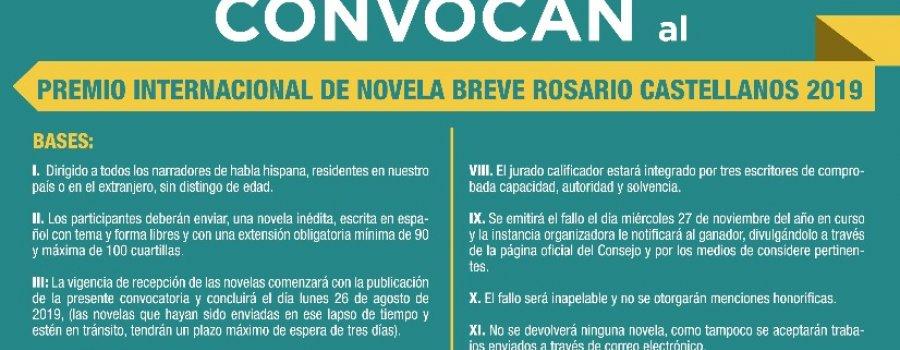 Premio Internacional de Novela Breve Rosario Castellanos 2019