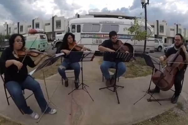 Orquesta Filarmónica del Desierto con el cuarteto de cuerdas