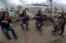 Orquesta Filarmónica del Desierto con el cuarteto de cue...