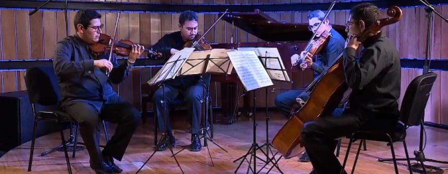 Cuarteto de cuerdas de la Orquesta Sinfónica de Aguascalientes