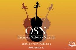 Orquesta Sinfónica Nacional.  Concierto 17. A-Pantalla y...