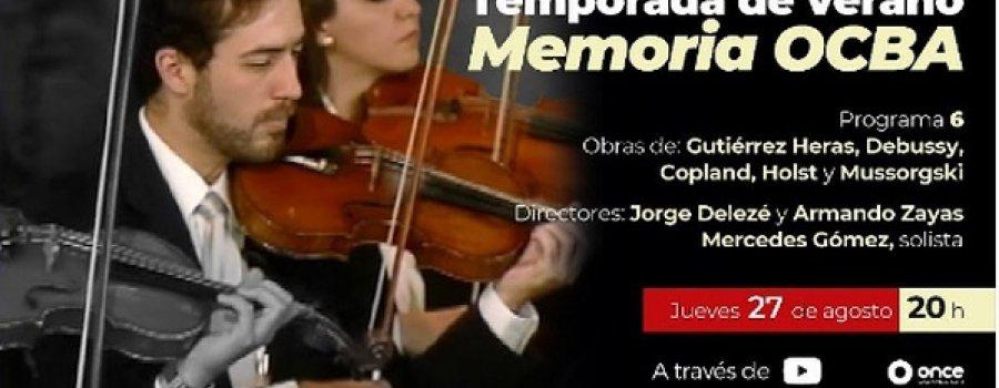 Memoria Orquesta de Cámara de Bellas Artes. Programa 6: Obras de Heras, Debussy, Dvořák...