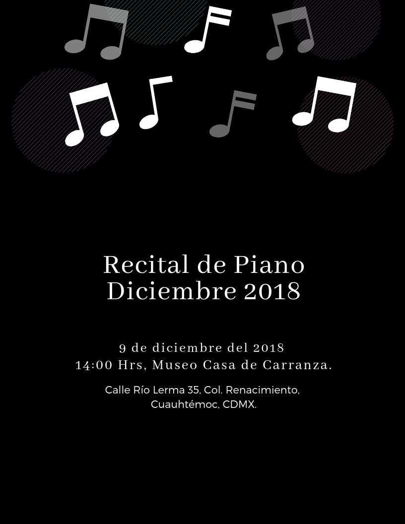 Recital de Piano con Alonso García y alumnos