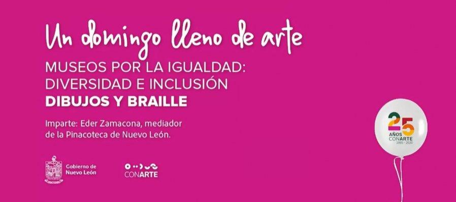 Un domingo lleno de arte: dibujos y braille