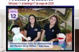 Dinomáscaras: Salas de dinosaurios del Museo de la Niñe...