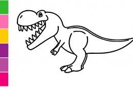 Cómo pintar un dinosaurio