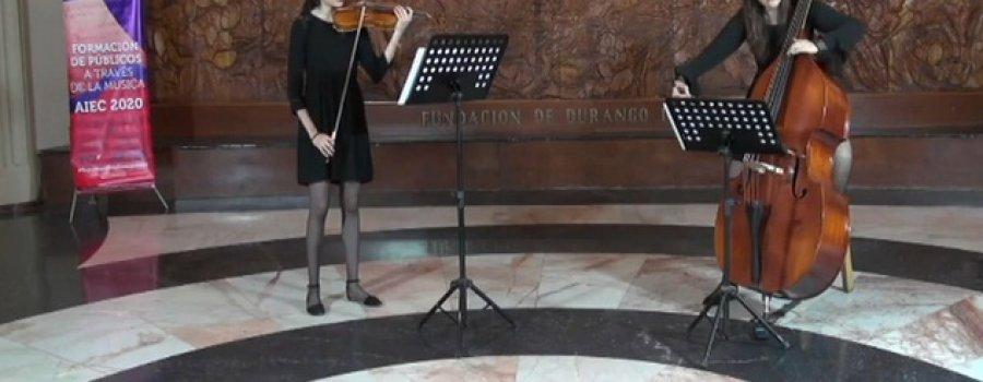 Concierto Contrabajo y Violín. Dueto Post Romántico