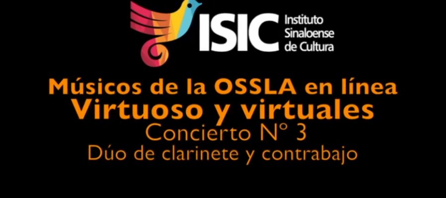 Virtuosos y Virtuales: músicos de la OSSLA en línea. Dúo de Clarinete y Contrabajo