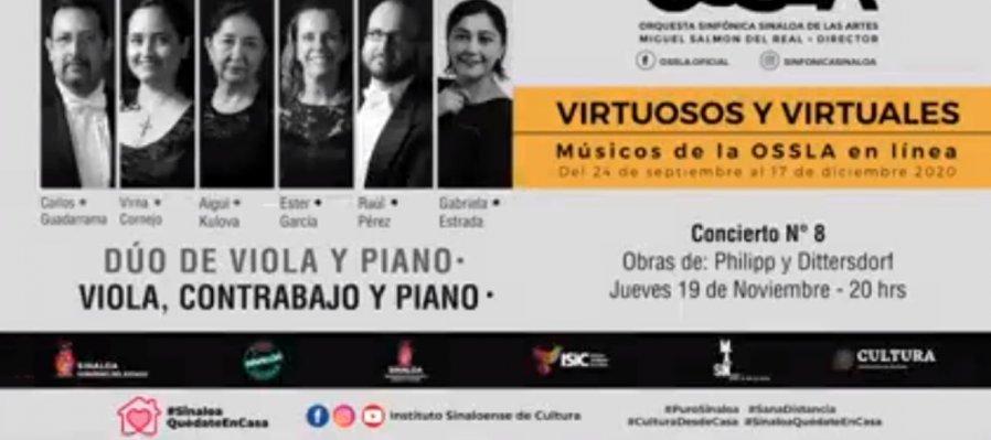 Virtuosos y Virtuales: músicos de la OSSLA en línea. Dúo de viola y piano
