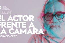 El actor frente a la cámara con Ignacio Ortiz