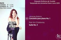 Edith Peña con la Orquesta Sinfónica de Yucatán