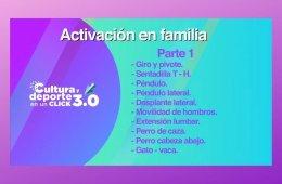 Activación física: Gimnasia para niñas y niños