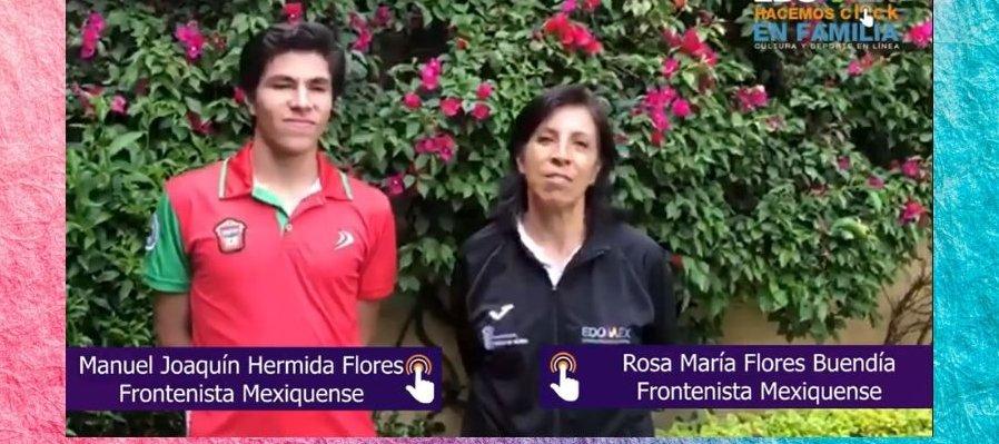 Entrenamos con: Rosa María Flores Buendía y Manuel Joaquín Hermida Flores