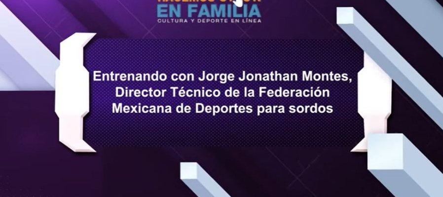 Entrenando con Jorge Jonathan Monte