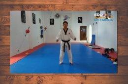 Clase de taekwondo para principiantes