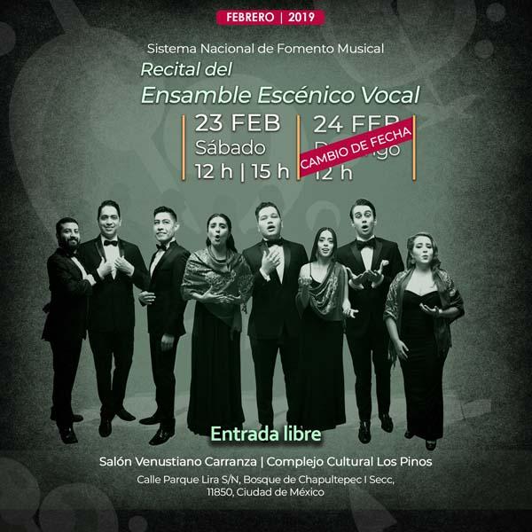 Ensamble Escénico Vocal en Los Pinos