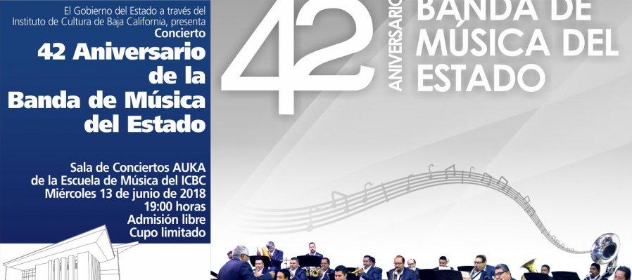 Concierto 42 Aniversario Banda de Música del Estado