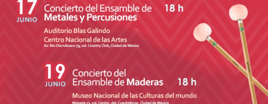 Recital del Ensamble de Maderas de la Orquesta Escuela Carlos Chávez