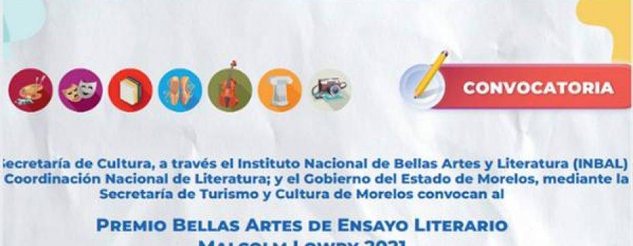 Premio Bellas Artes de Ensayo Literario Malcolm Lowry 2021