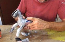 Taller de escultura en papel 2. Decorado de la pieza
